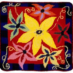 Anemone Needlepoint Cushion Kit
