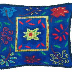 Bella Blue Needlpoint Cushion Kit