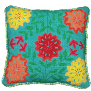 Chrysanthemum Needlepoint Cushion Kit