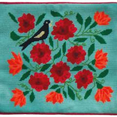 Garden Tui Needlepoint Cushion Kit