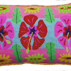 Hibiscus Stripe Cushion