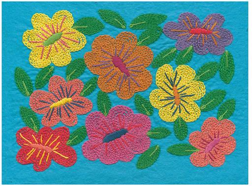Island Dreaming Embroidery on Felt