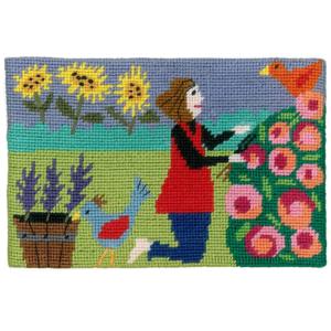 Jennifer Pudney Needlepoint Id Rather be Gardening