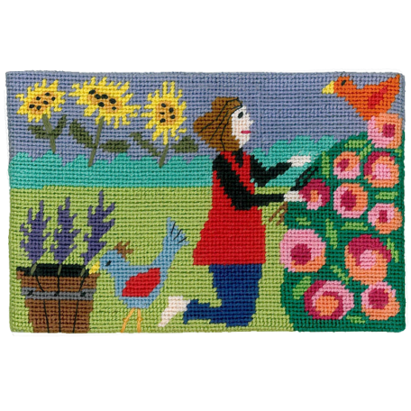 Jennifer Pudney Needlepoint Id Rather be Gardening