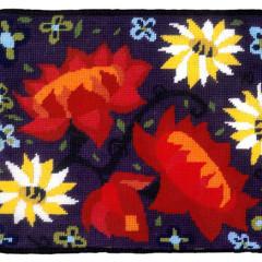 Midnight Garden Needlepoint Cushion Kit
