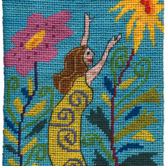 Reaching For The Sun Needlepoint Postcard