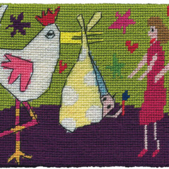 Special Delivery Needlepoint Postcard