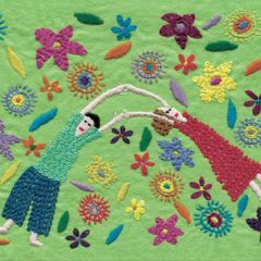 Tender Garden Embroidery on Felt