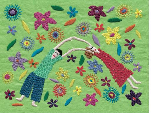 Tender Garden Embroidery on Felt