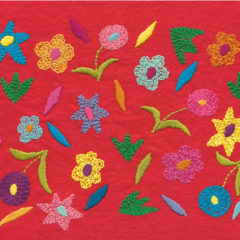 Wild Flower Embroidery on Felt