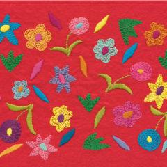 Wild Flower Embroidery on Felt