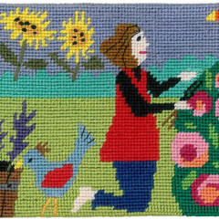 I'd rather be gardening Needlepoint Postcard