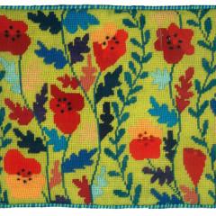 Tall Poppies Needlepoint Cushion Kit