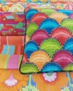 Clamshell Bargello Cushion with Kaffe Fabric