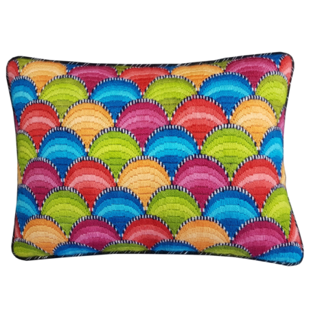 Clamshell Bargello Cushion