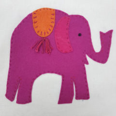 Jennifer Pudney Crafty Dog Elephant Embroidery for Children