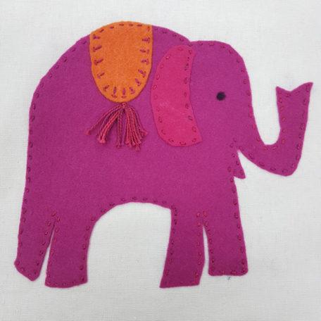 Jennifer Pudney Crafty Dog Elephant Embroidery for Children