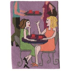 Jennifer Pudney Needlepoint Cafe Girls