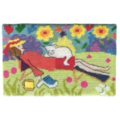 Jennifer Pudney Needlepoint Cat Nap