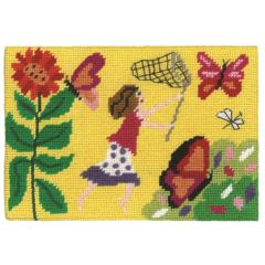 Jennifer Pudney Needlepoint Chasing Butterflies