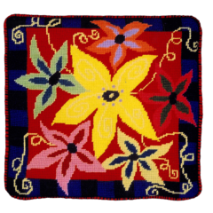 Jennifer Pudney Needlepoint Cushion Anenome