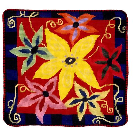 Jennifer Pudney Needlepoint Cushion Anenome