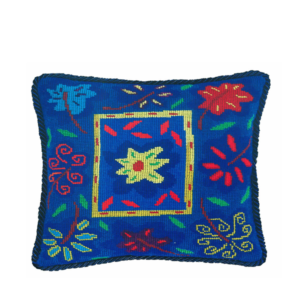 Jennifer Pudney Needlepoint Cushion Bella Blue