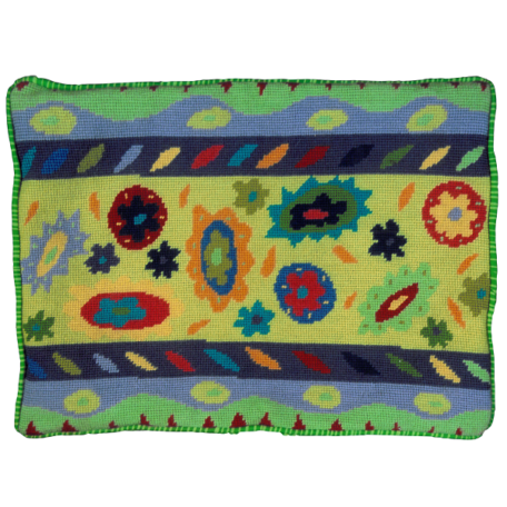 Jennifer Pudney Needlepoint Cushion Casa Lime