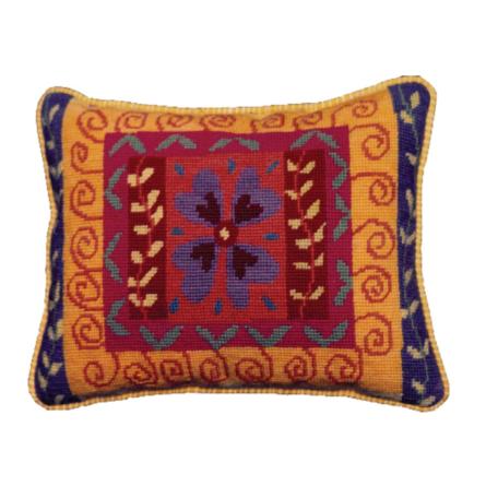 Jennifer Pudney Needlepoint Cushion Rosa