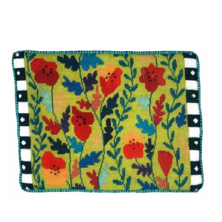 Jennifer Pudney Needlepoint Cushion Tall Poppies