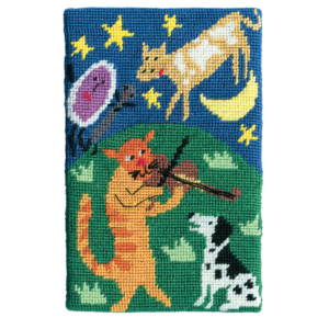Jennifer Pudney Needlepoint Hey Diddle