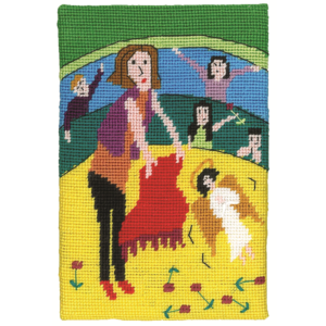 Jennifer Pudney Needlepoint Like a Red Rag to an Angel