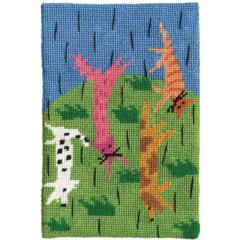 Jennifer Pudney Needlepoint Raining Cats and Dogs
