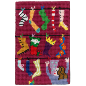 Jennifer Pudney Needlepoint Tempting Santa