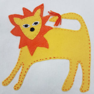 Jennifer Pudney Crafty Dog Lion Embroidery for Children